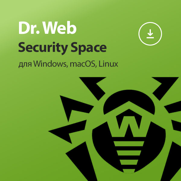 Dr.Web Security Space на 1 год Электронная версия
